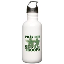 Pray for our troops Water Bottle