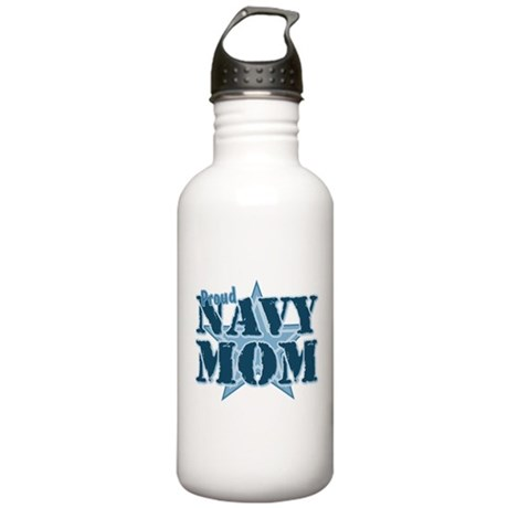 Proud Navy Mom Stainless Water Bottle 1.0L