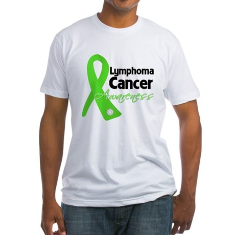 Lymphoma Cancer Awareness Fitted T-Shirt