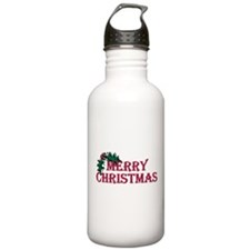 Merry Christmas Holly Water Bottle