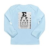 Eye Test Long Sleeve Infant T-Shirt