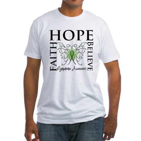Faith Hope Lymphoma Fitted T-Shirt