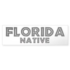 Florida Native Bumper Bumper Sticker