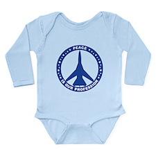 FB-111A Peace Sign Long Sleeve Infant Bodysuit