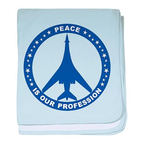 B-1B Peace Sign baby blanket