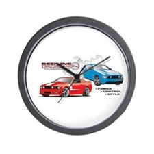 Cool Burnout Wall Clock