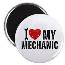 I Love My Mechanic Magnet
