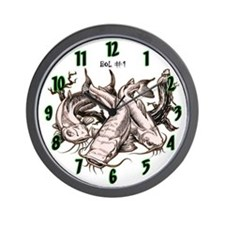 T's N Crackers Catfish Wall Clock