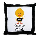 Gamer Chick Throw Pillow