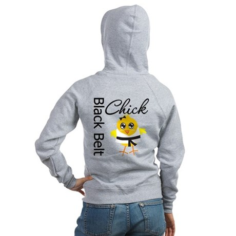 Black Belt Chick Women's Zip Hoodie