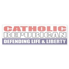 Catholic Republican Bumpersticker (10x3)