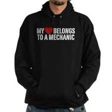 My Heart Belongs To A Mechanic Hoodie
