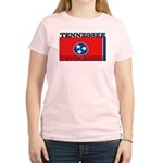 Tennessee State Flag Women's Pink T-Shirt