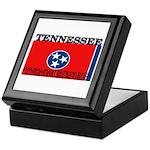 Tennessee State Flag Keepsake Box