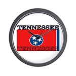 Tennessee State Flag Wall Clock