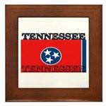 Tennessee State Flag Framed Tile