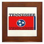 Tennessee State Flag Framed Tile