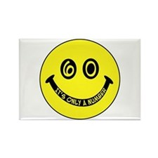 60th birthday smiley face Rectangle Magnet
