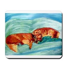 Two Goldens Nap Time Mousepad