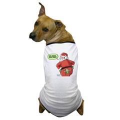 Lost Santa Elf Design Dog T-Shirt