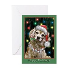 Cocker Spaniel n Lights Greeting Card