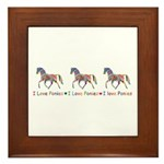 I love ponies Framed Tile