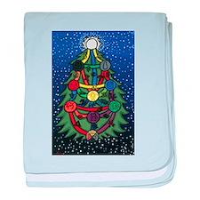 Christmas Tree of Life baby blanket