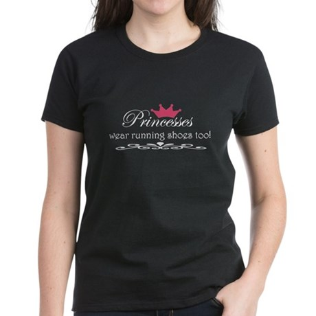 Princesses wear running shoes Women's Dark T-Shirt