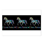 I love ponies Postcards (Package of 8)