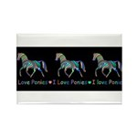 I love ponies Rectangle Magnet (100 pack)
