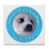 Anti-Fur Harp Seal Pup Tile Coaster