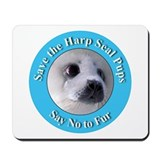 Anti-Fur Harp Seal Pup Mousepad