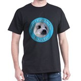 Anti-Fur Harp Seal Pup (Front) Black T-Shirt