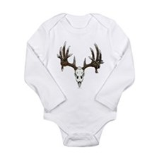 whitetail skull Long Sleeve Infant Bodysuit