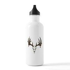 whitetail skull Water Bottle