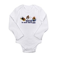 Snow Penguins Long Sleeve Infant Bodysuit