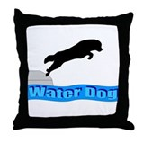 Funny Newfoundland dogs Throw Pillow