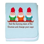 Burning Stare of The Gnomes baby blanket