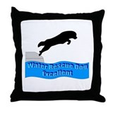 Cool Newfoundland dogs Throw Pillow