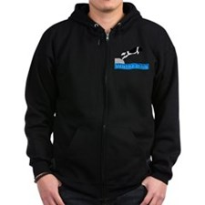 Unique Working newf designs Zip Hoodie