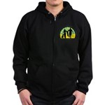 Parents Against Dog Chaining Zip Hoodie (dark)