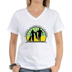 Parents Against Dog Chaining Women's V-Neck T-Shir