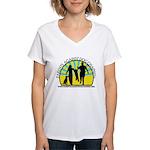 Parents Against Dog Chaining Women's V-Neck T-Shir