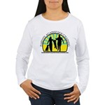Parents Against Dog Chaining Women's Long Sleeve T