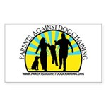 Parents Against Dog Chaining Sticker (Rectangle 10