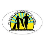 Parents Against Dog Chaining Sticker (Oval 10 pk)