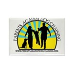 Parents Against Dog Chaining Rectangle Magnet