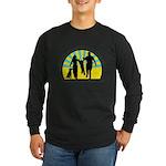 Parents Against Dog Chaining Long Sleeve Dark T-Sh