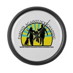 Parents Against Dog Chaining Large Wall Clock