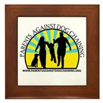 Parents Against Dog Chaining Framed Tile